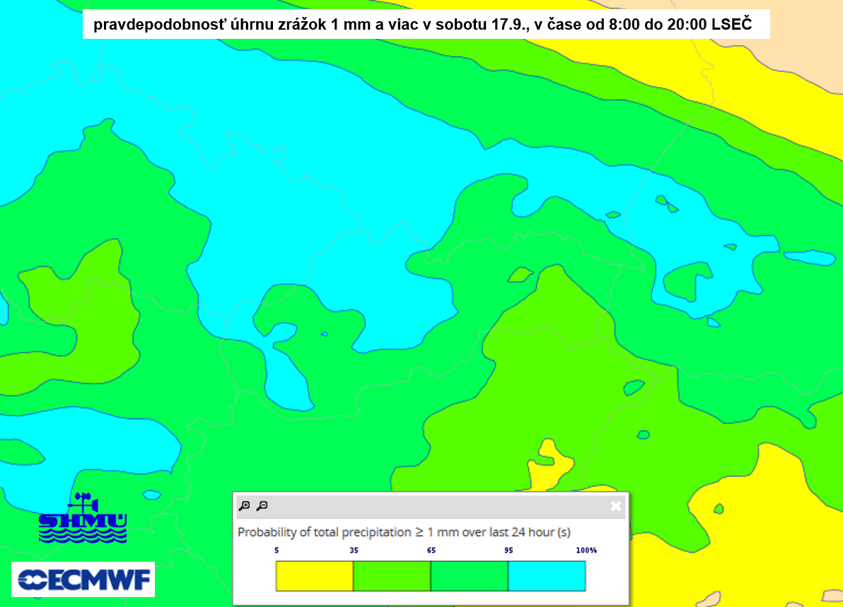 2aaa96ca1 Obr. 2: Predpoveď prízemného tlakového poľa a teploty vzduchu v hladine 850  hPa podľa modelu ECMWF na sobotu 17.9.2016 14:00 LSEČ + predpokladaná  poloha ...
